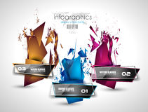 Infographic Layout for infocharts and item classification Stock Images