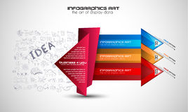 Infographic Layout for infocharts and item classification Stock Photography
