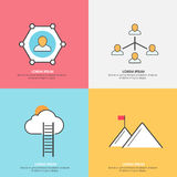 Infographic layout for network and communication. Royalty Free Stock Images