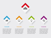 Infographic layout for web-site or print with icons on buttons Stock Photography