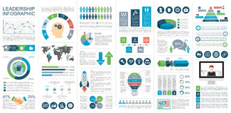 Infographic leadership vector design template Royalty Free Stock Photos