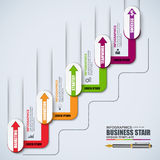 Infographic linear timeline vector design template Royalty Free Stock Photography