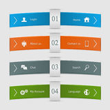 Infographic lines Stock Images
