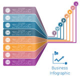 Infographic Lines Strips Perspective eight position Stock Image