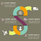 Infographic of logistic design template Royalty Free Stock Photos