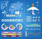 Infographic lotów elementy Obrazy Stock