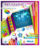 Infographic with a lot of design elements Stock Photos