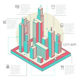 Infographic made of colorful buildings Royalty Free Stock Photography