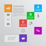Infographic mall stock illustrationer