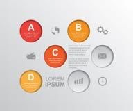 Infographic mall vektor illustrationer