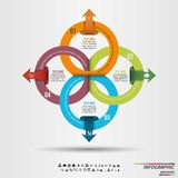 Infographic mall Designbegrepp för presentation, runt diagram eller diagram eps10 blommar yellow för wallpaper för vektor för kli royaltyfri illustrationer