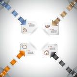 Infographic mall för datapresentation Royaltyfria Bilder