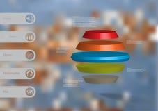 infographic mall för illustration 3D med rund sexhörning Royaltyfri Foto