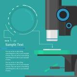 Infographic mall för mikroskop Arkivbild