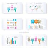 Infographic mall för presentationsglidbanor Arkivbild