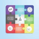 Infographic mall för pussel Royaltyfria Bilder