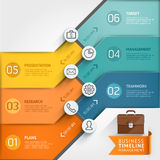 Infographic mall för Timeline Royaltyfri Foto