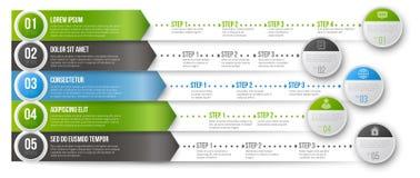 Infographic mall för Timeline stock illustrationer