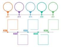 Infographic mall för Timeline också vektor för coreldrawillustration Royaltyfria Foton