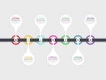 Infographic mall för väg med en gradvis struktur Royaltyfri Fotografi