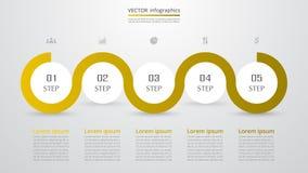 Infographic mall för vektor Arkivbild