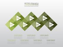 Infographic mall för vektor Arkivfoton