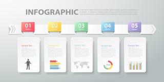 Infographic mall kan användas för workflowen, orienteringen, diagram Arkivbilder