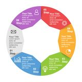 Infographic mall med alternativ eller moment för affärspresentation arkivbild