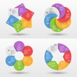 Infographic mall med alternativ eller moment för affärspresentation fotografering för bildbyråer