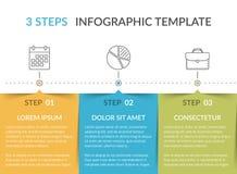 Infographic mall med 3 moment vektor illustrationer