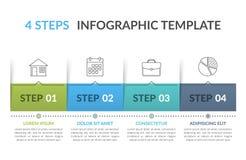 Infographic mall med 4 moment royaltyfri illustrationer