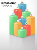 Infographic mall med statistik Stock Illustrationer