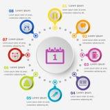 Infographic mall med symbolen för nytt år Royaltyfri Foto