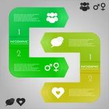 Infographic mall med symboler Arkivbild