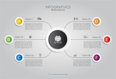 Infographic mall också vektor för coreldrawillustration Arkivbild