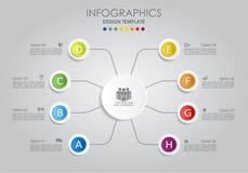 Infographic mall också vektor för coreldrawillustration Arkivfoton