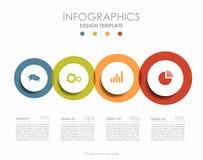 Infographic mall också vektor för coreldrawillustration Fotografering för Bildbyråer
