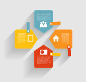 Infographic mallar för affärsvektor Royaltyfri Foto