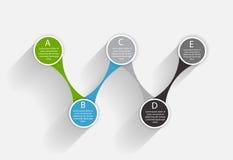 Infographic mallar för affärsvektor Royaltyfria Bilder