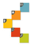 Infographic mallar för affärsvektor Arkivfoto