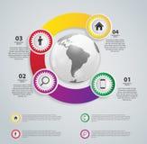 Infographic mallar för affärsvektorillustration. Royaltyfria Bilder