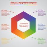 Infographic mallar för affärsvektorillustration EPS10 Royaltyfria Bilder