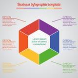 Infographic mallar för affärsvektorillustration EPS10 Royaltyfria Foton