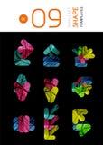 Infographic mallar för modern affär Royaltyfria Bilder