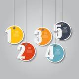 Infographic mallar för affärsvektor Royaltyfri Fotografi