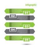 Infographic malldesign Stock Illustrationer