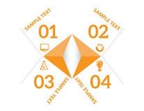 Infographic mallvektor Royaltyfria Bilder
