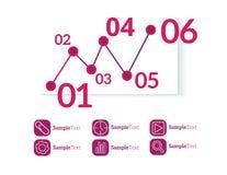 Infographic mallvektor Fotografering för Bildbyråer