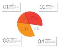 Infographic mallvektor Arkivbilder