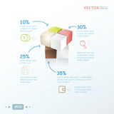 Infographic malplaatje 3D Kubus Royalty-vrije Stock Foto's